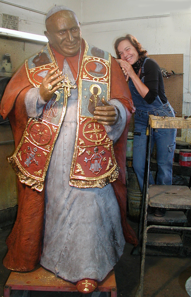 Pope John XXIII (Papa Giovanni)-Artist after Finishing @ Foundry