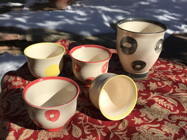 The colorful vessel set of 5
